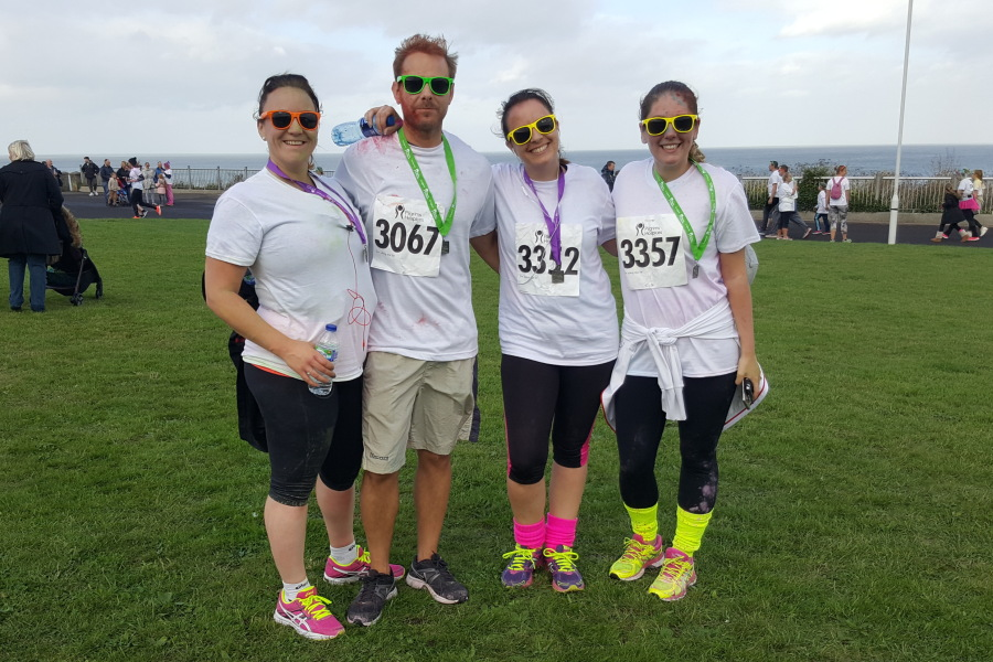Colour run for Pilgrims Hospice