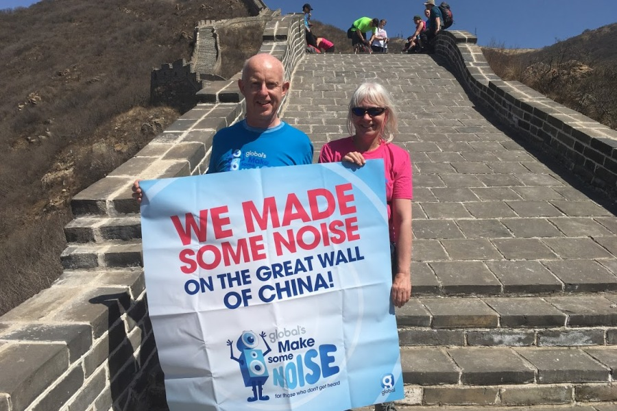 John Moore's Great Wall of China trek for Global's Make Some Noise